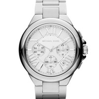 Michael Kors Mid-Size Silver Color Stainless Steel Camille Chronograph Watch