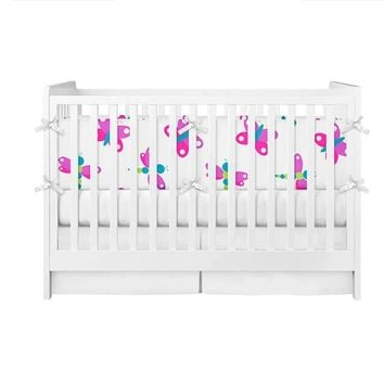 Butterfly and Dragonfly Crib Bumper