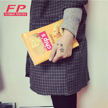 Fashion Women Envelope Bags PU Leather Handbag Potato Chips Day Clutches Bags 3 Size Available Women shoulder bags Ladies Purses