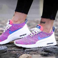 Nike Air Max Thea Ultra Flyknit Leisure Women Men Running Sneakers B-CSXY Light Purple
