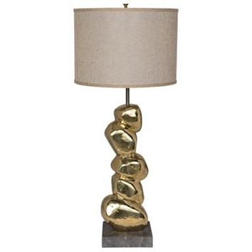 Camden Table Lamp w/ Shade, Solid Brass
