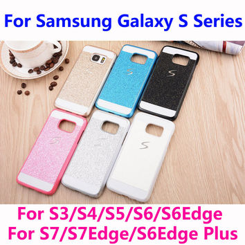 Bling Phone Case Shinning Luxury Cover for Samsung Galaxy S Series S3 S4 S5 S6 S7 S6 Edge S7Edge back cover Sparkling case G920