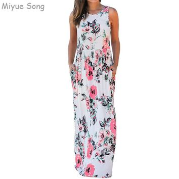 Cotton Maternity Dress Fashion Sleevelesse Printing  Party Evening Clothes for Pregnant Women Vestdios New Pregnancy Clothing
