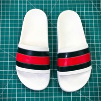 Gucci Leather Slide With Bow Fashion Style 108 - Sale