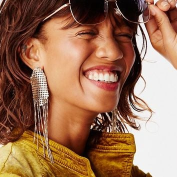 Free People Save the Night Chainmail Earring