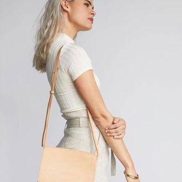 Clara Crossbody Purse Natural Vachetta