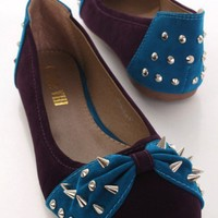 Purple Faux Suede Spike Studded Adorable Flats @ Amiclubwear Flats Shoes online store:Women's Casual Flats,Sexy Flats,Black Flats,White Flats,Women's Casual Shoes,Summer Shoes,Discount Flats,Cheap Flats,Spring Shoes,Cute Flats Shoes,Women's Flats Shoes,Sn