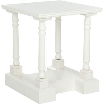 Endora End Table Distressed Cream