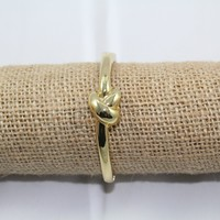 Knot Bangle Bracelet - Gold