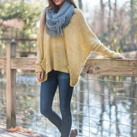 Slouchy Time Sweater, Yellow