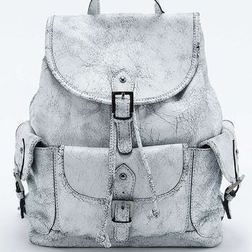 Leather Pocket White Backpack - Urban Outfitters