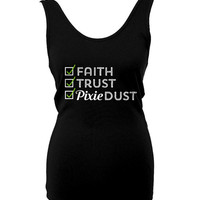 Faith Trust Pixie Dust, Tinkerbell Shirt, Peter Pan Shirt, Tank Top, Wear to the Parks, Tank Top, Made to Order, Happily Ever Tees