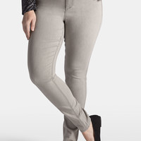 Plus Size - Denim Flex ™ Light Gray Jegging - Light Gray