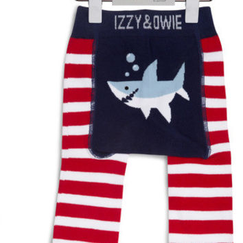 Red and Navy Shark Baby Legging