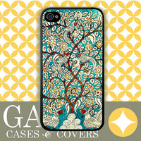 iPhone 4s Case, iPhone 4 Case, iPhone Case, Vintage Tree Of Life Aqua