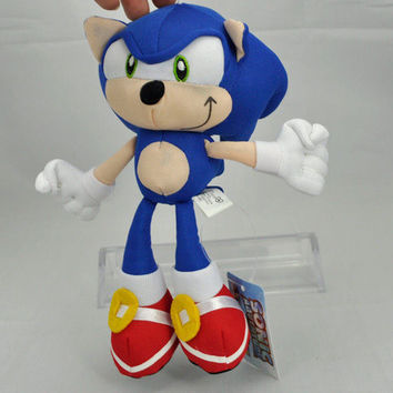 Blue Sonic the Hedgehog Stuffed Animals Plush Toys Soft Doll For Children Retail 1pcs