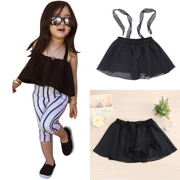 Baby Girls Sun-top Dress Kids Infants Girl Summer Clothing Gauze Suspender Dress Tops Children Clothes 2017 New Hot #LD789