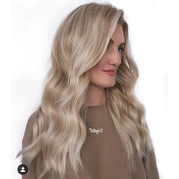 "SAMANTHA full lace wig 18"" long blond  balayage hair"