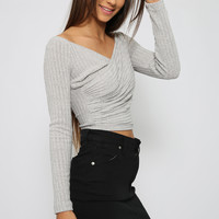 Jasmeen Crop - Grey