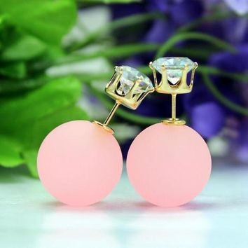 LMFUP0 Fashion Candy Color Sided Eraser Bead Earring
