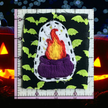 Cauldron Patch, Witch Patch, Handmade Patch