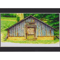 Virginia Fine Art, Primitive Barn, 4x6 Architectural Art Print, Montpelier Estate, Ready to Frame