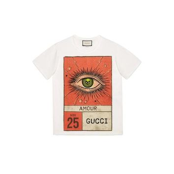 Gucci Amour Eye Print T- Shirt
