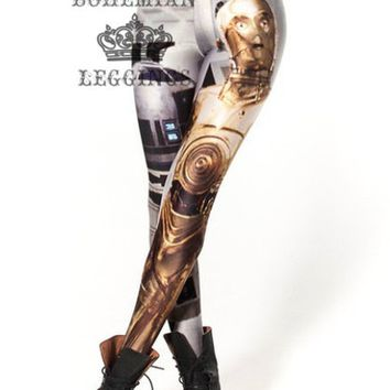 R2 and Threepio Star Wars Leggings