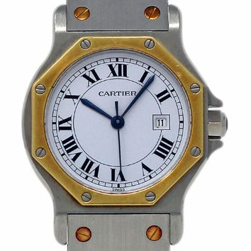 Cartier Santos Octagon swiss-automatic womens Watch 2966 (Certified Pre-owned)