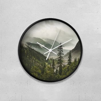 "Foggy Forest 10"" Wall Clock"