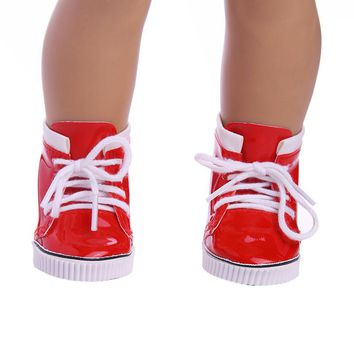 "Doll clothes,doll accessories, lovely Red Boots doll shoes for 18"" inch american girl doll ,christmas gift free shpping"