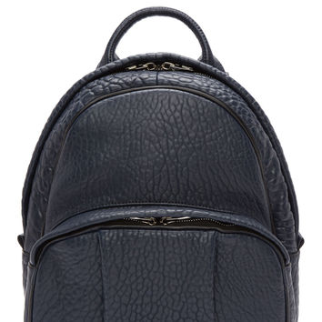 Alexander Wang Neptune Blue Grained Leather Dumbo Backpack