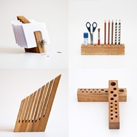 Supermarket: Wood Desk Organizer Set from LESS & MORE Vienna