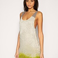 ASOS | ASOS Drop Armhole Beaded Tank Dress at ASOS
