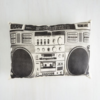 ModCloth 80s Boombox! Shake the Room Pillow