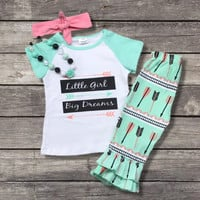 """Little Girl Big Dreams"" Boutique Outfit"