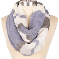 Lightweight Bold Stripes Infinity Scarf - Blue/Multi or Beige/Multi