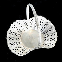 Small Candy Basket, Vintage Quist German Silver Plate Candy Dish , Silverplate Filigree Dish