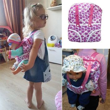 #Deals Children Kids Backpack & Doll Carrier Sleeping Bag For 18''American Girl Clothes
