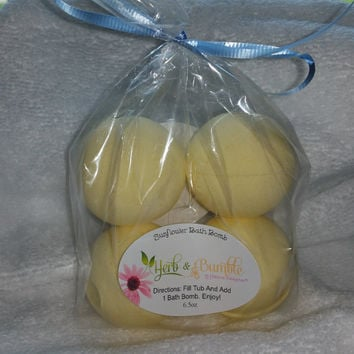 Mini Sunflower Bath Bombs