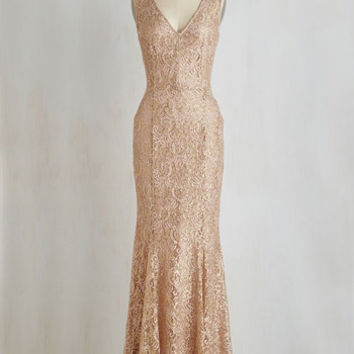 Sleeveless A-line Glamour and Grace Dress by ModCloth