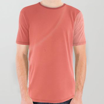 Coral gradient All Over Graphic Tee by duckyb