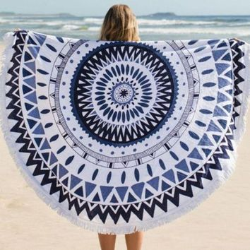 DCCKJG2 Hippie Round Mandala Tapestry Indian Wall Hanging Beach Throw Towel Yoga Mat beach cover up