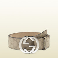 Gucci - belt with interlocking G buckle 114984AA61N1523