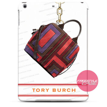 Tory Pieced Patchwork Satchel Espresso  iPad Case 2, 3, 4, Air, Mini Cover