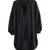 H&M - Satin Tunic with Tassels
