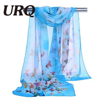 chiffon scarf print animal women's scarf silk muslim lady brand design spring summer patterns cape shawl wrap cachecol feminino