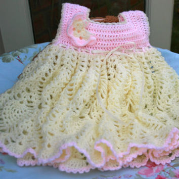 Baby Crochet Dress Baby Dress Pineapple From Crochetyknitsnbits