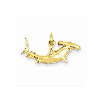 14k Hammerhead Shark Charm, Best Quality Free Gift Box Satisfaction Guaranteed