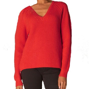 Vanessa Bruno Athé Basile Red Chunky-Knit Sweater